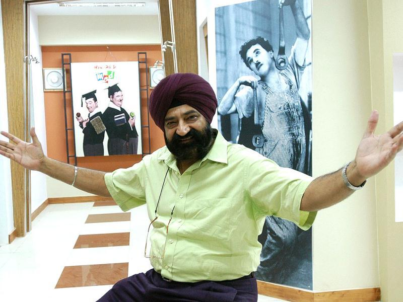 The genial sardar, Jaspal Bhatti was posthumously awarded the Padma Bhushan honour on the eve of the 64th Republic Day. HT photo