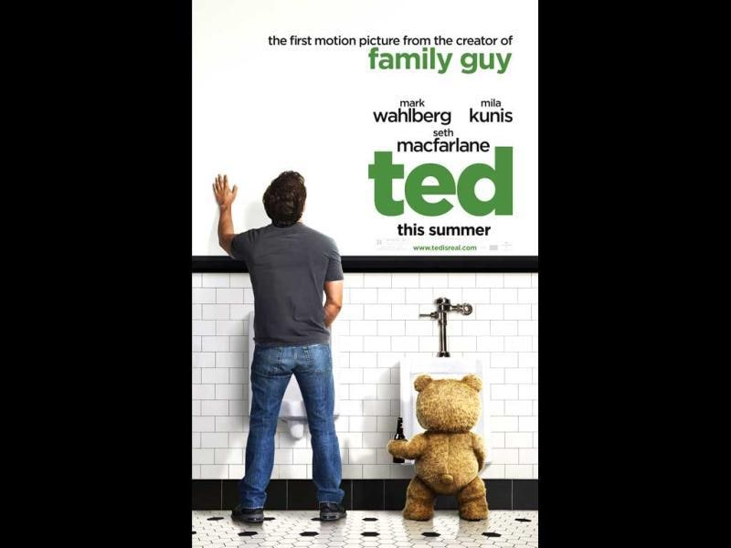 Don't be fooled by the fluffy and huggable looking teddy, this guy has a restricted trailer of the film too!