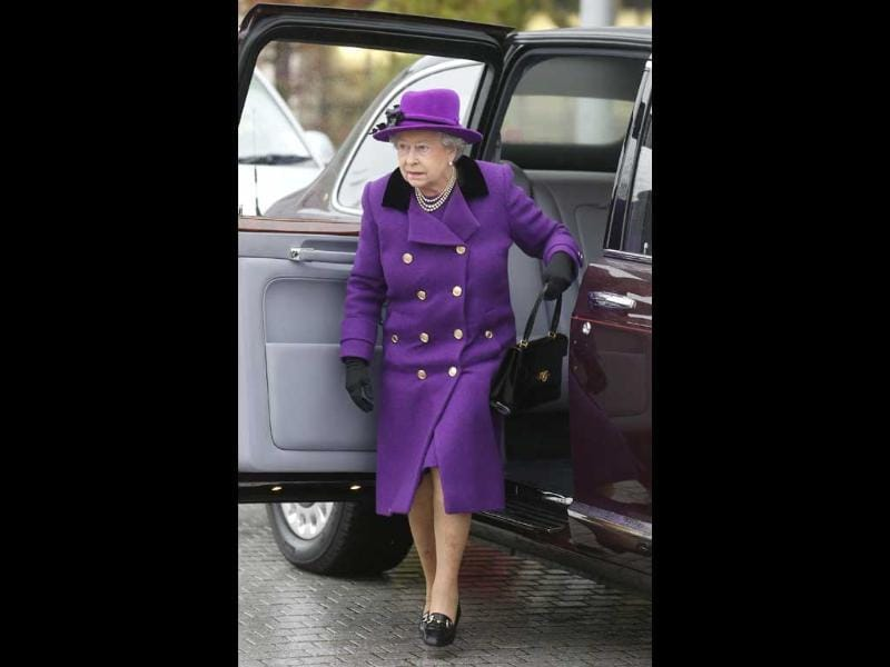 Queen Elizabeth arrives at Jubilee Gardens in London. The Queen opened the newly developed Jubilee Gardens on the South Bank, London, and visited the British Film Institute, at the South Bank Centre. Reuters/Suzanne Plunkett