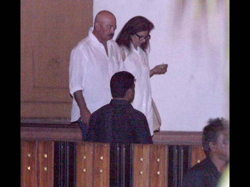 Filmmaker Rakesh Roshan was also spotted at Yash Chopra's Chautha.