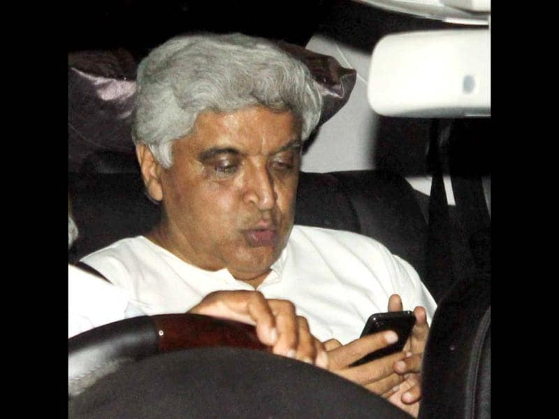 Javed Akhtar behind the wheels.