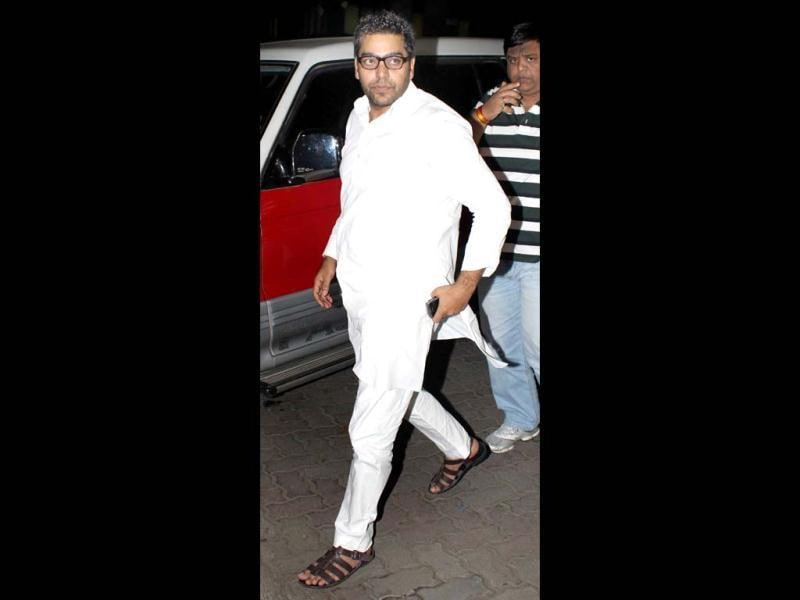 Ashutosh Rana was also there to pay last respects to Yash Chopra.