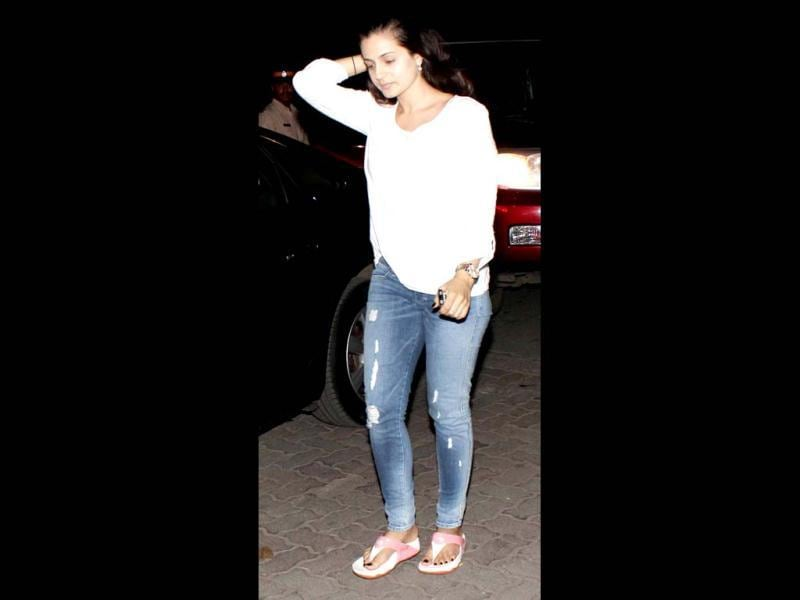 Ameesha Patel was also spotted at Yash Chopra's Chautha.
