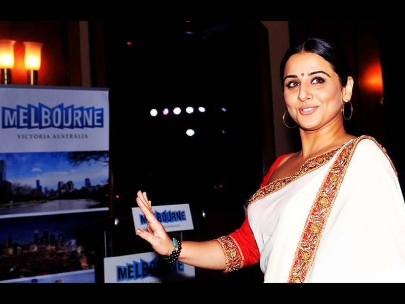 Vidya Balan at the press conference.
