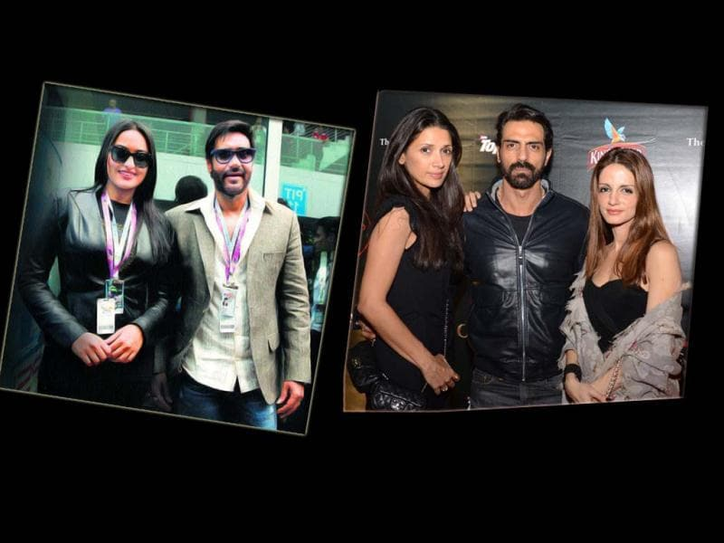 Many international and desi celebrities turned up at the Grand Prix that took place at the Buddh International Circuit in Greater Noida. Check out!