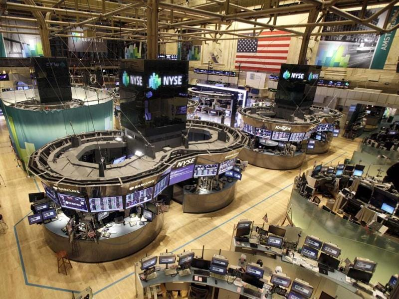 The floor of the New York Stock Exchange is empty of traders in New York with Hurricane Sandy nearing landfall on the East Coast.AP Photo