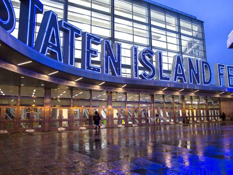 Sandbags block the entry to the closed Staten Island Ferry in New York as all public transportation has been shut down as Hurricane Sandy approaches the East Coast.AP Photo