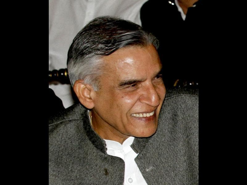 Union railway minister Pawan Bansal is seen at Rashtrapati Bhavan. HT/Arvind Yadav