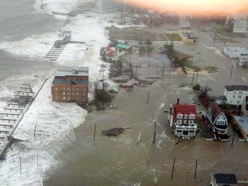 This photo provided by 6abc Action News shows the Inlet section of Atlantic City, NJ, as Hurricane Sandy makes it approach. AP photo