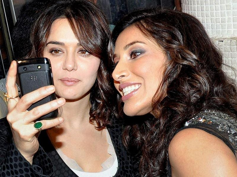 Preity Zinta and Sophie Choudry at the launch of the latter's video album Hungama Ho Gaya. (PTI Photo)