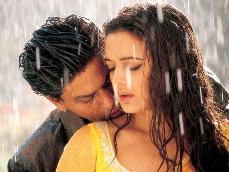 Veer Zara featured SRK (an Indian Air Force pilot) who falls for Preity Zinta (a Pakistani girl).