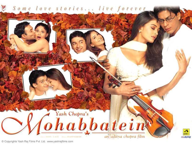 SRK played a music teacher who taught students importance of love in Mohabbatein. Aishwarya Rai played his love interest in the film.