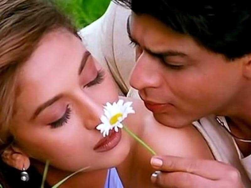 In Dil Toh Pagal Hai, SRK charmed one and all with his role as Rahul who falls in love with Pooja played by Madhuri Dixit.