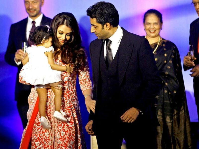 Abhishek-Aishwarya's daughter and Big B's granddaughter turns one today. Here's a look at Aaradhya Bachchan's latest appearance at French Embassy where she was the centre of attraction even though the event was in honour of her mother. (AP Photo)