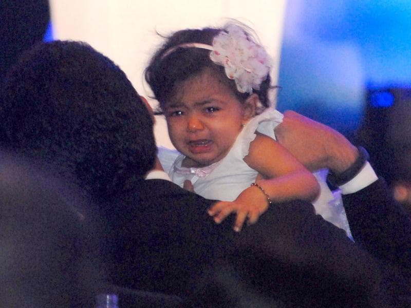 Aaradhya Bachchan with father Abhishek Bachchan. (Photo/Prodip Guha)