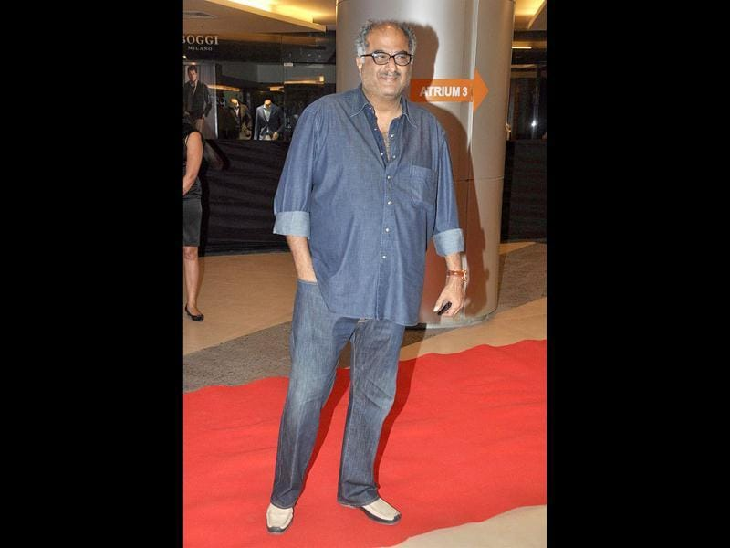 Boney Kapoor was dressed in his usual casual denims. (Photo/Prodip Guha)