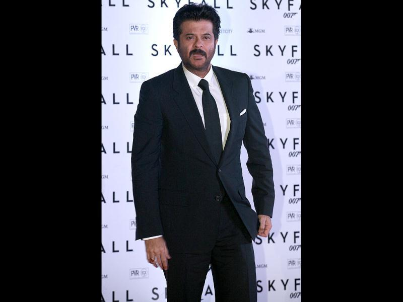 Anil Kapoor looked sharp in a black suit. (Photo/Prodip Guha)