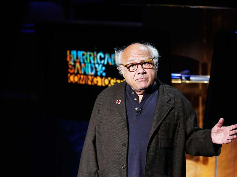Actor Danny DeVito makes an appearance during Hurricane Sandy: Coming Together, a Red Cross telethon on NBC to benefit victims of Hurricane Sandy in New York. Reuters photo