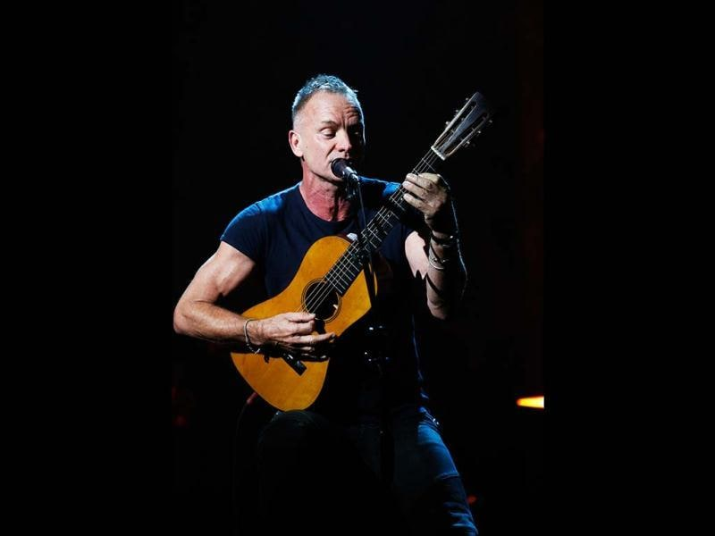 Musician Sting performs during Hurricane Sandy: Coming Together, a Red Cross telethon on NBC to benefit victims of Hurricane Sandy in New York. Reuters photo