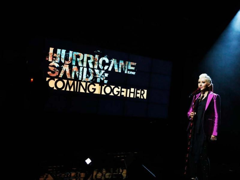 Singer Christina Aguilera performs during Hurricane Sandy: Coming Together, a Red Cross telethon to benefit victims of Hurricane Sandy in New York. Reuters photo