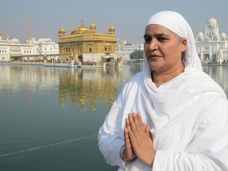 Former Punjab state minister and sitting MLA Bibi Jagir Kaur at Golden temple in Amritsar. Kaur was granted bail by the Punjab and Haryana HC after her conviction in a case for kidnapping, and wrongful confinement of her daughter, who had died under mysterious circumstances. AFP photo