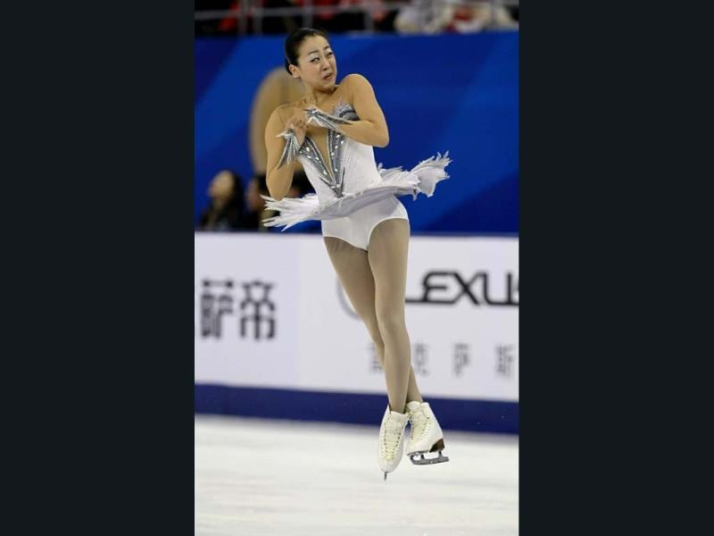 Mao Asada of Japan performs during the Ladies free skating at the ISU Grand Prix of Figure Skating Cup of China Figure Skating competition in Shanghai. AP photo