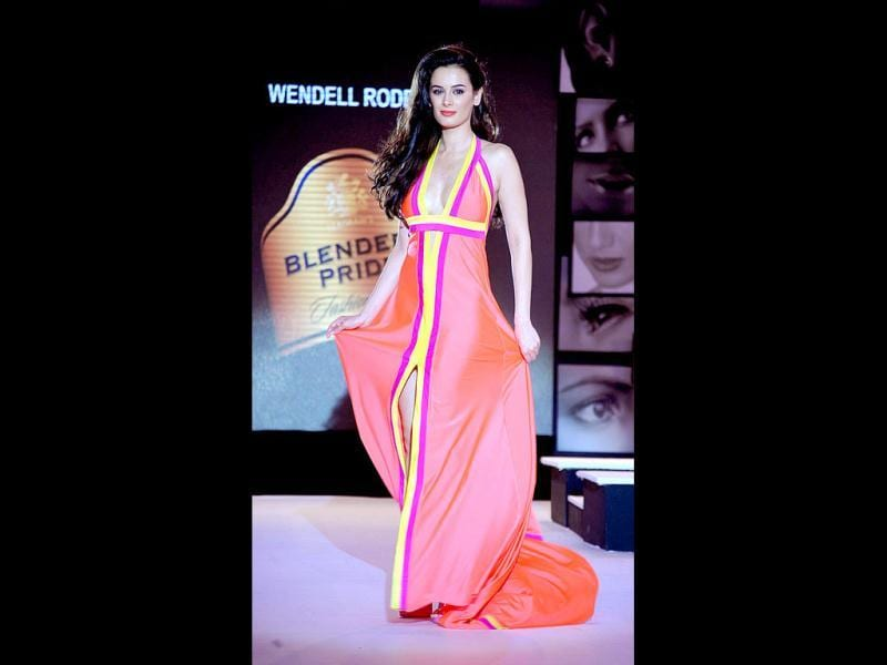 Evelyn Sharma dons a beach gown by designer Wendell Rodricks. (Photo/AFP)
