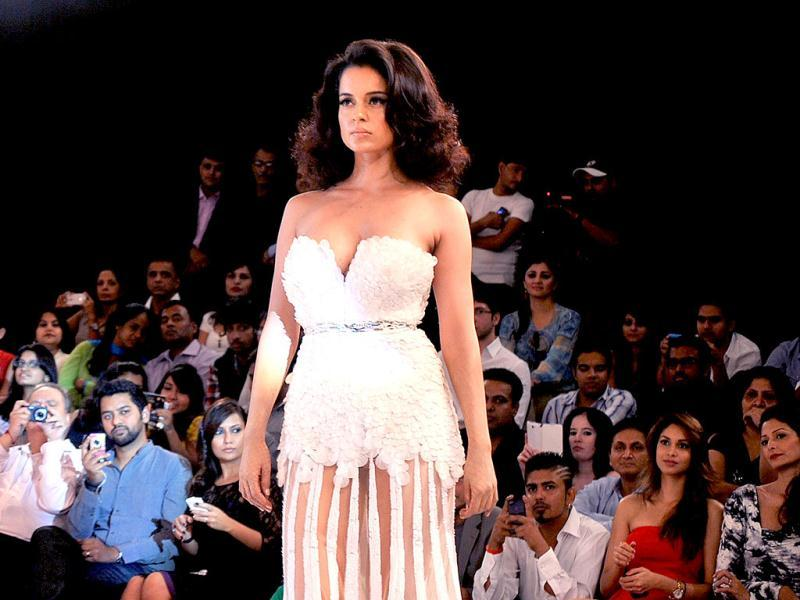 Kangana Ranaut looks sexy in a skimpy white outfit. (Photo/AFP)