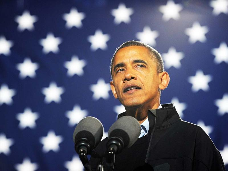 US President Barack Obama speaks during a campaign rally in Aurora, Colorado. AFP/Jewel Samad