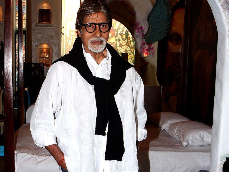 Amitabh Bachchan was clicked at an art exhibition in Mumbai.