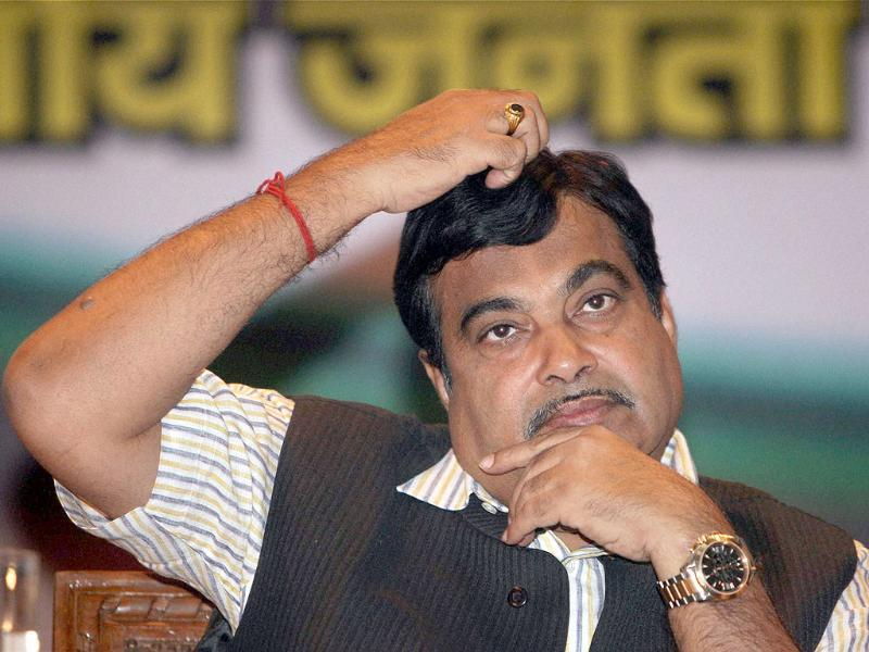 BJP president Nitin Gadkari is seen during the release of the party's National Policy on Fishing and Fishermen in New Delhi. PTI/Vijay Kumar Joshi