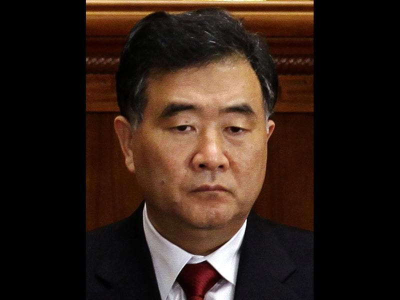 Wang Yang attends the opening ceremony of the CPPCC at the Great Hall of the People in Beijing. Reuters file photo