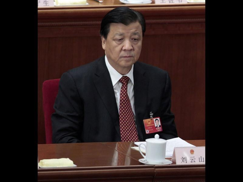 Liu Yunshan, propaganda minister of China's Communist Party Central Committee, attends the closing ceremony of the National People's Congress (NPC) at the Great Hall of the People in Beijing. Reuters file photo