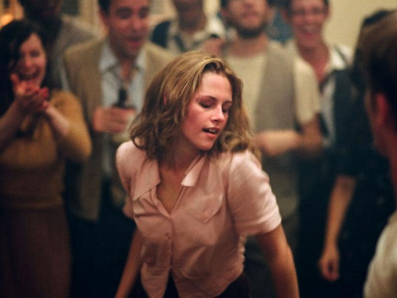 Kristen sure looks carefree as she dances with gay abandon in On The Road.
