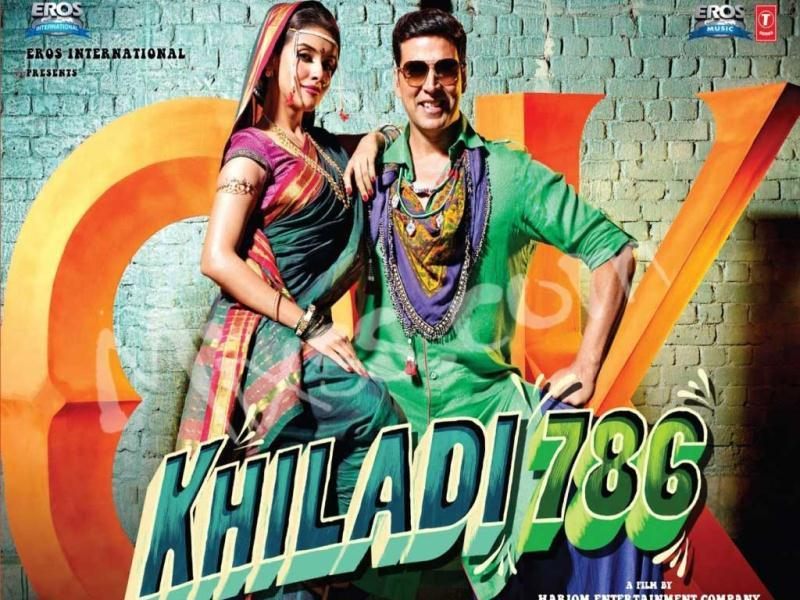 Asin and Akshay Kumar in the poster of the film.