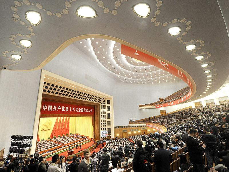 A general view shows delegates attending the opening of the 18th Communist Party Congress at the Great Hall of the People in Beijing. AFP Photo/Wang Zhao
