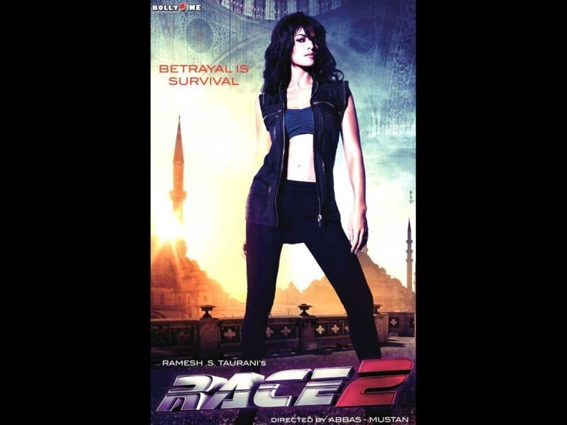 Jacqueline Fernandez looks smokin' hot as she poses against the sunlit backdrop of Istanbul in Race 2 poster.