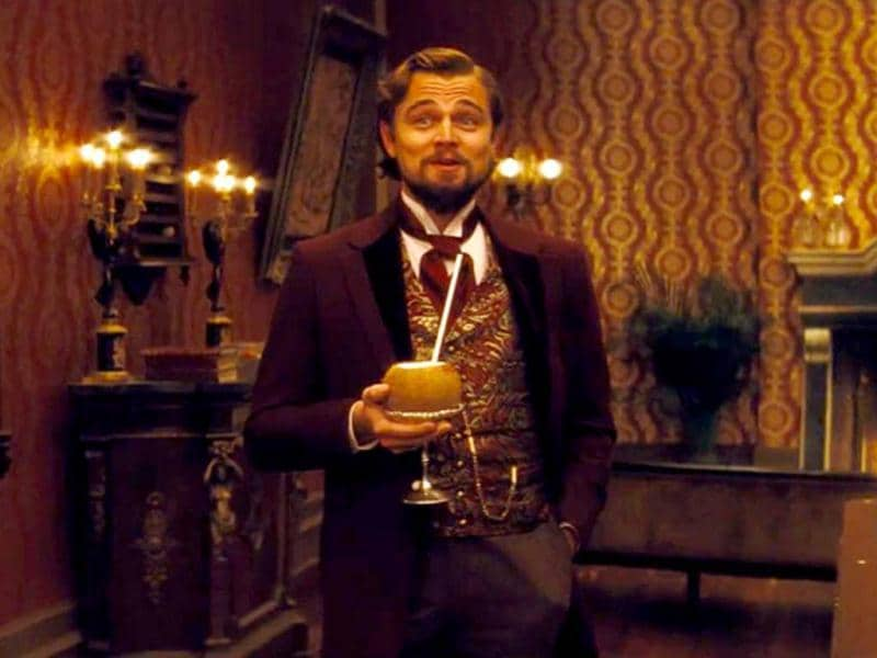 One of his most interesting characters, Leonardo plays a brutal Mississippi plantation owner in Quentin Tarantino's Django Unchained.