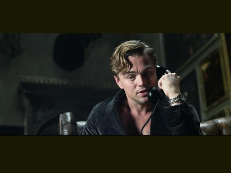 In The Great Gatsby, Leo plays the mysterious and lavish Jay gatsby who lives on Long Island.