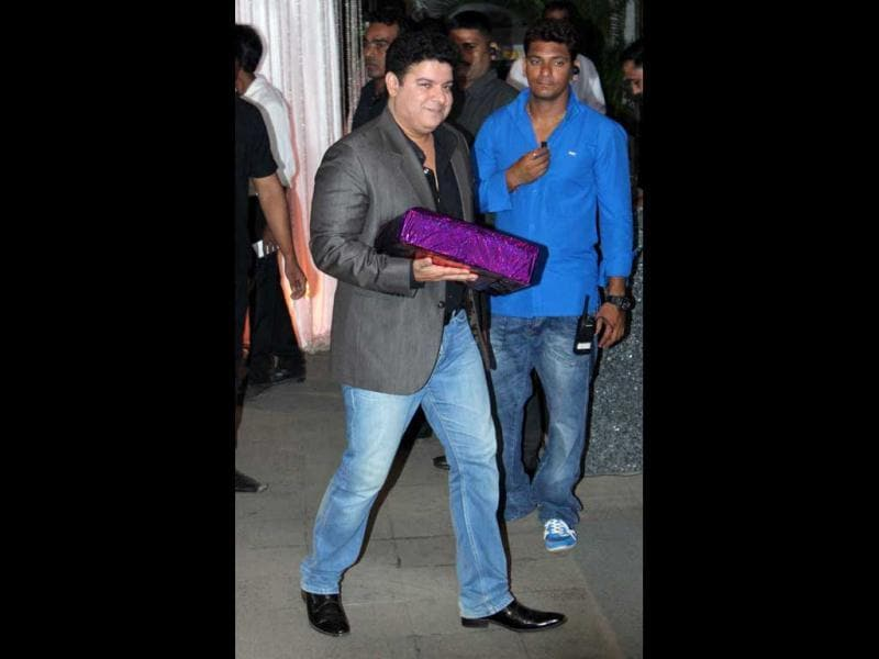 Sajid Khan smiles for the camera.