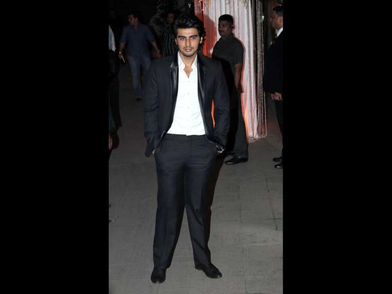 Arjun Kapoor looked somewhat glum.