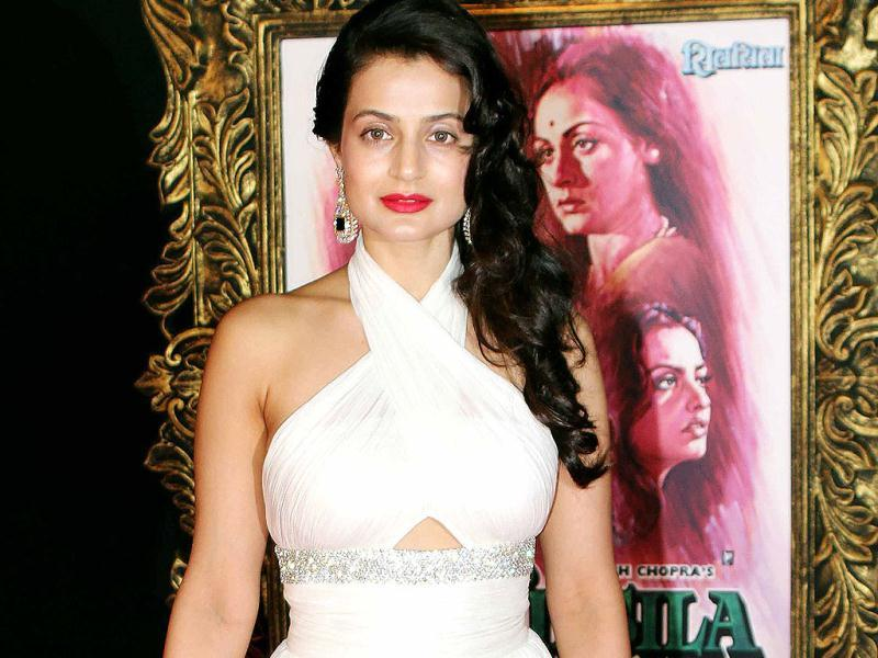 Ameesha Patel in a white gown. (Photo/Yogen Shah)