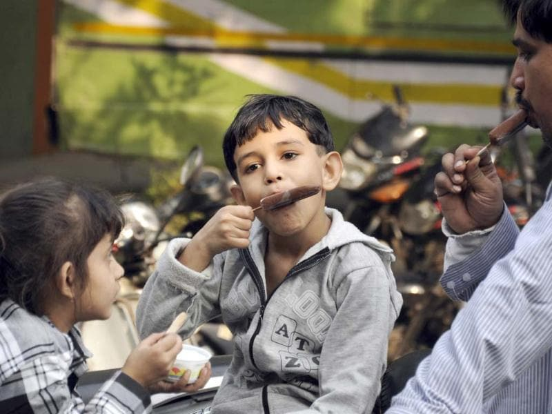 Children seen on in New Delhi, on the occasion of childrens day. Hindustan Times