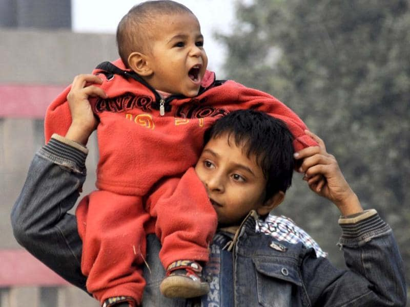 Children seen at Bal Bhawan in New Delhi, on the occasion of childrens day. Hindustan Times