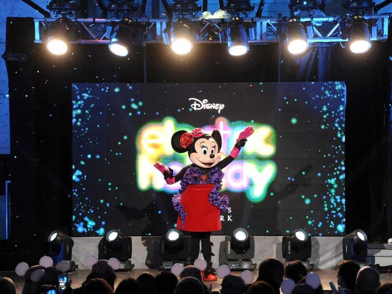 Minnie Mouse kicks off the official opening of