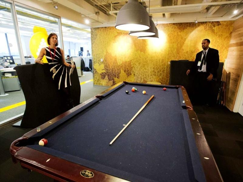 The billiards room is seen at the new Google office in Toronto, November 13, 2012. Reuters/Mark Blinch