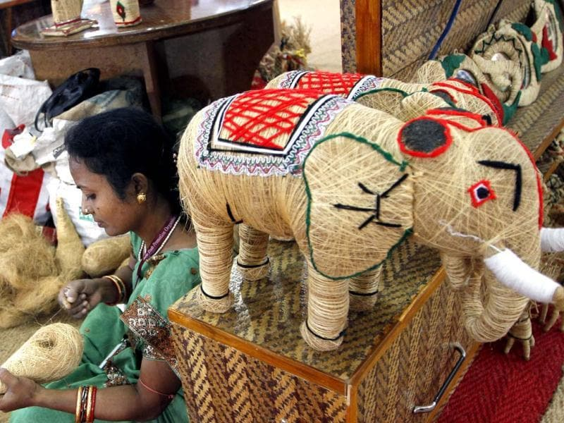Artisans as seen at India International Trade Fair at Pragati Maidan in New Delhi. Hindustan Times