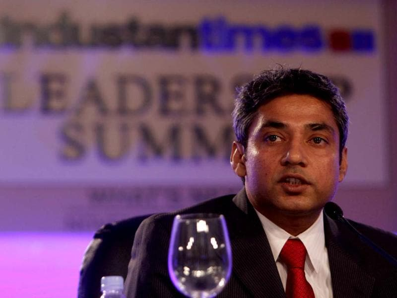 Former Indian cricketer Ajay Jadeja during the sixth session of Hindustan Times Leadership Summit at Taj Palace in New Delhi. (Photo by ARIJIT SEN / Hindustan Times)