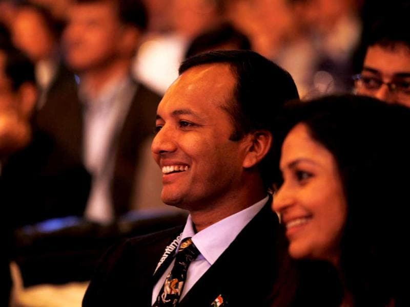 Congress MP Naveen Jindal attends the Hindustan Times Leadership Summit in New Delhi. (HT Photo/Ajay Aggarwal)