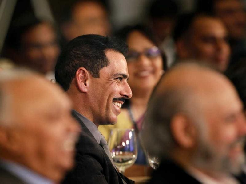 Businessman Robert Vadra attends the Hindustan Times Leadership Summit in New Delhi. (HT Photo/Gurinder Osan)